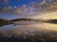 イエローストーンのアブサロッカと青空 ワイオミング州