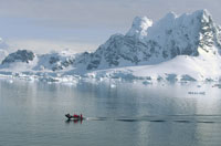 TOURISTS IN BOAT,PARADISE BAY,ANTARCTICA