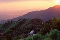 タムダオ山地の日没