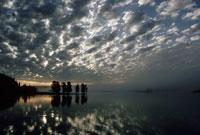 イエローストーン川上空の雲