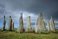 Callanish standing stones,Isle of Lewis,Outer Hebrides Isl 01543024800| 写真素材・ストックフォト・画像・イラスト素材|アマナイメージズ