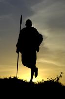 マサイの戦士 シルエット