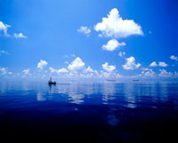 穏やかな海とドーニ