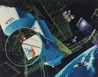 宇宙ステーションのイラスト