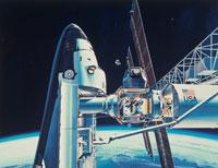 宇宙コロニーとスペースシャトル