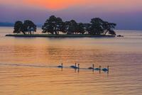 宍道湖の夕景 01597028780| 写真素材・ストックフォト・画像・イラスト素材|アマナイメージズ