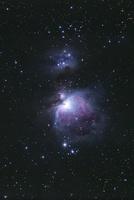 満天の星空とオリオン大星雲