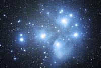 満天の星空とプレアデス星団