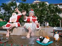 ホノルル市役所前のクリスマスデコレーション オアフ島 ハワイ