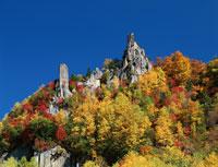 秋の層雲峡   北海道 01651015464| 写真素材・ストックフォト・画像・イラスト素材|アマナイメージズ