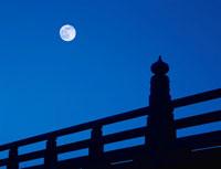 五条大橋と満月 京都