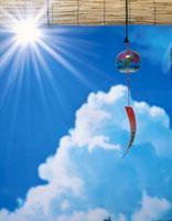 風鈴と入道雲と太陽