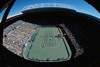 ナショナルテニスセンターの全豪オープンテニスと観客