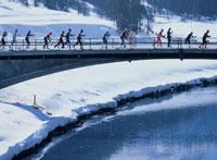 スキーマラソンの選手達