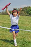 運動会 徒競走とリレーのイメージ