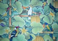 ウブドゥのバリの絵画 バリ島 インドネシア