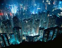 ビクトリア・ピークからの香港夜景
