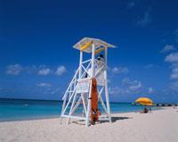 ビーチの監視台 モンテゴベイ ジャマイカ