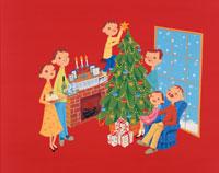 クリスマスの家族 クラフト