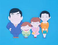 笑顔の家族 クラフト