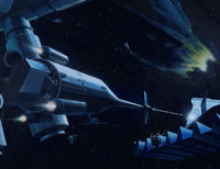 宇宙船  CG