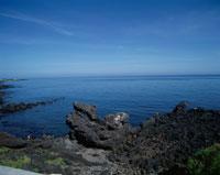 済州十景の一つ龍頭岩(ヨンドウアム) 済州島 韓国