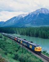 大陸横断鉄道「VIA」 バンフNP カナダ