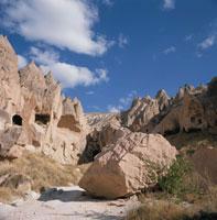 ゼルベの谷の岩 カッパドキア トルコ