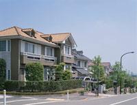 鶴川緑山住宅街 と道路  神奈川県