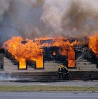 ハミルトン公害の火事 北島 ニュージーランド