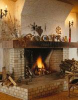 部屋の暖炉 スイス