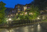 黒川温泉の夕景