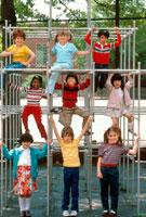 Children on monkey bars