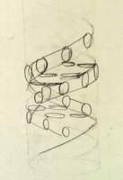 Crick's original DNA sketch 01808027128| 写真素材・ストックフォト・画像・イラスト素材|アマナイメージズ