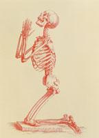 膝まづいて祈る骸骨イメージ 01809010036| 写真素材・ストックフォト・画像・イラスト素材|アマナイメージズ