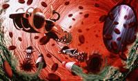 動脈内部のナノロボット
