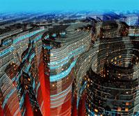未来都市 01809010866| 写真素材・ストックフォト・画像・イラスト素材|アマナイメージズ