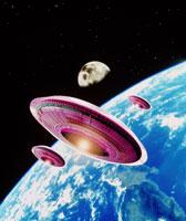 地球上空のUFO