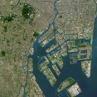 東京の衛星写真