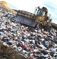 ゴミ埋め立て地