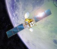地球の軌道を回る衛星 01809011985  写真素材・ストックフォト・画像・イラスト素材 アマナイメージズ