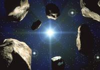 小惑星群 01809012095| 写真素材・ストックフォト・画像・イラスト素材|アマナイメージズ
