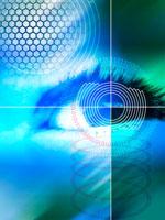 Biometric eye scan, computer artwork 01809013317| 写真素材・ストックフォト・画像・イラスト素材|アマナイメージズ