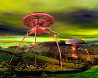 Alien invasion, computer artwork