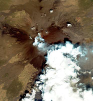 Smoke plume from Mount Etna, Sicily