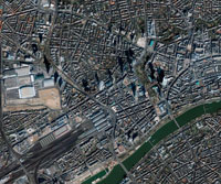 Frankfurt, Germany, satellite image