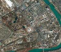 Baghdad, Iraq, satellite image