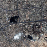 Fallujah, Iraq, satellite image