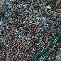 Munich city centre, Germany, satellite image