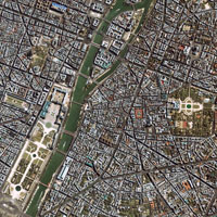 Central Paris, France, satellite image